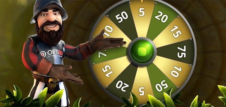 Gonzo Wheel õnneratas ja tasuta spinnid