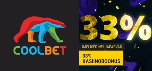 Imelised neljapäevad Coolbet kasiinos - kuni €33 kasiinoboonus