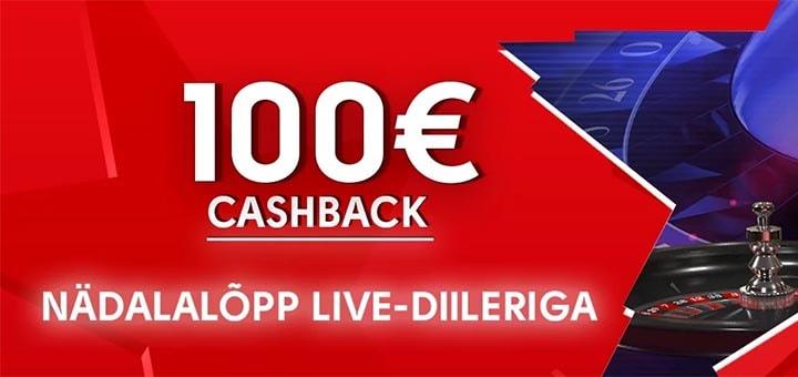 OlyBet live-diller kasiino cashback
