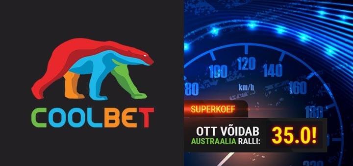 Ott Tänak võidab Austraalia Ralli 2019 - superkoefitsient 35.00