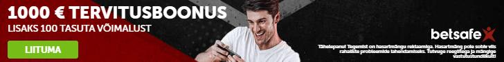 Betsafe kasiinos ootab kuni €1000 superboonus + 100 tasuta spinni