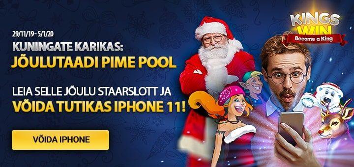 Kingswin kasiino jõuluturniir 2019 - võida iPhone 11 Pro
