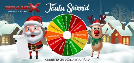 GrandX Casino jõulukalender 2019 - keeruta ja võida