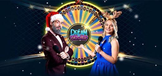 Optibet live kasiino jõulu Dream Catcher ja tasuta spinnid
