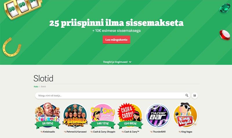 Paf online kasiino veebileht