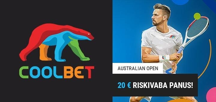 Coolbet Australian Open 2020 riskivabad panused