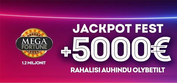 OlyBet Jackpot Fest - rahaloos + võimalus võita jackpot