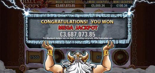 Paf Hall of Gods Mega Jackpot - Eesti suurim online kasiino jackpot