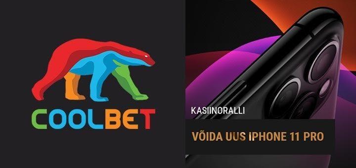 Võida Coolbet kasiinorallil uus iPhone 11 Pro