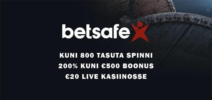 Betsafe kasiinos liitujatele koheselt kuni 800 tasuta spinni