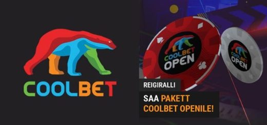 Coolbet Open reigiralli - teeni omale tasuta live pakett