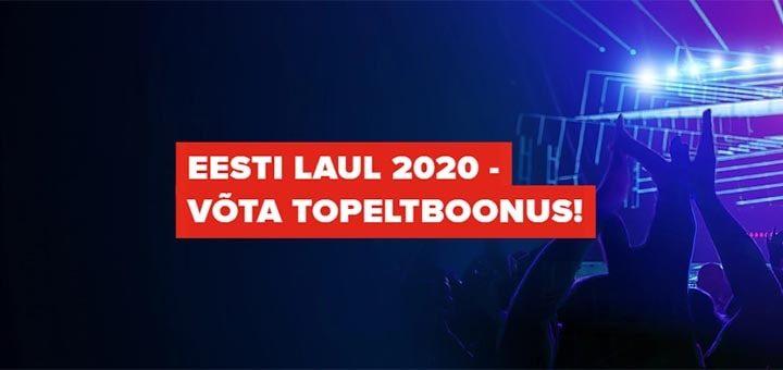 Eesti Laul 2020 topeltboonus Optibet'is