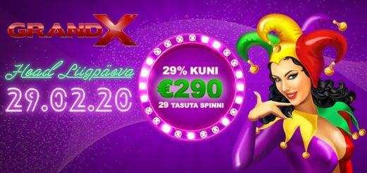 GrandX kasiino liigaasta boonus