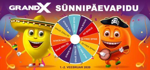 GrandX online kasiino sünnipäevapidu