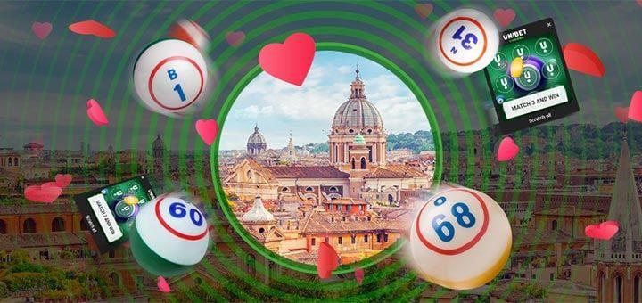 Võida Unibet bingo kraapekaartidega sõbrapäevareis Rooma