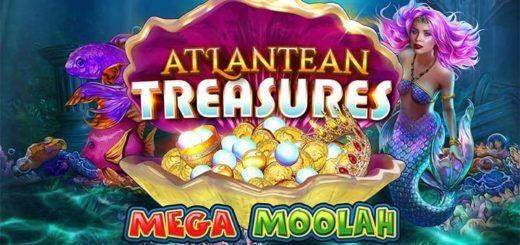 Võida tasuta spinnidega Atlantean Treasures Mega Moolah mängu Mega Jackpot