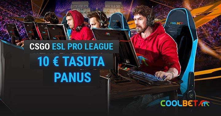 Coolbet CSGO Esl Pro League tasuta panus