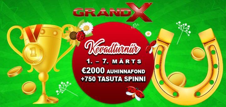 GrandX kasiino kevadturniir 2020