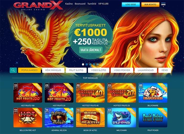 GrandX kasiino veebileht