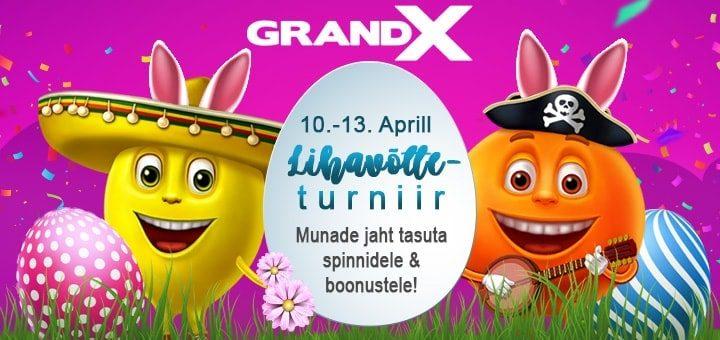 Lihavõtte pakkumised 2020 GrandX online kasiinos