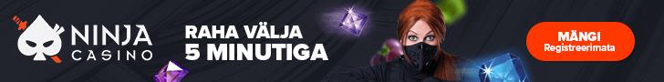 Ninja Casino - väljamakse panka 5 minutiga