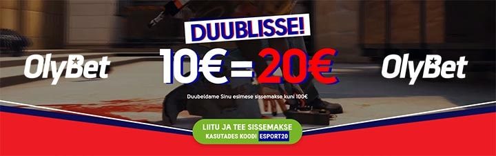 OlyBet annab E-spordile panustamiseks kuni €100 lisaraha
