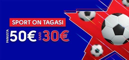 Sport on tagasi - OlyBet annab sel puhul €30 eest tasuta panuseid