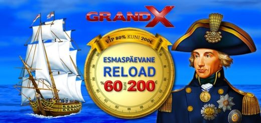 GrandX Casino esmaspäevane reload boonus