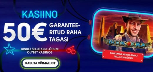 OlyBet kasiino uued kliendid saavad mängida €50 eest riskivabalt