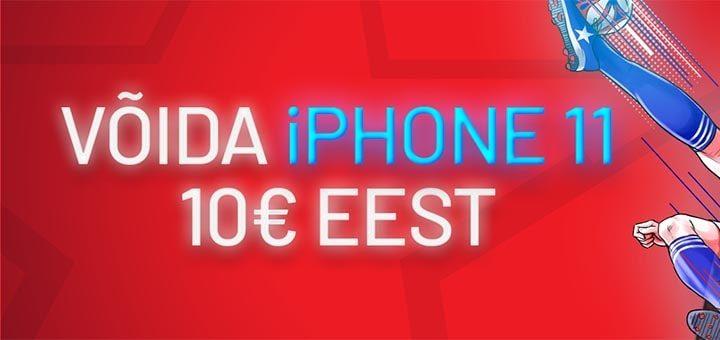 Võida iPhone 11 vaid €10 sissemakse eest