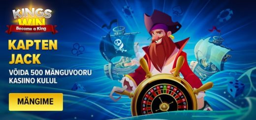 Kapten Jack slotiturniir Kingswin kasiinos - võida tasuta spinne