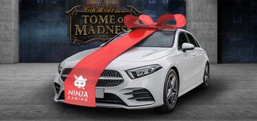 Ninja Casino supersuvi - võida iga nädal raha, tasuta spinne ja sõiduauto Mercedez Benz