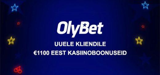 OlyBet kasiino suveeri - uuele liitujale €1100 eest kasiino boonuseid