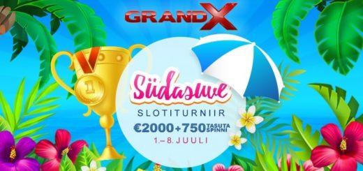 Südasuve slotiturniir GrandX kasiinos