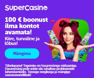 SuperCasino Eesti - võta boonus ilma kontot avamata