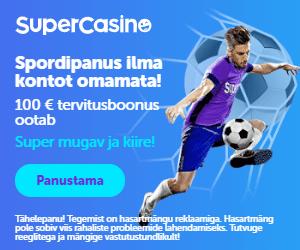 SuperCasino spordiennustus - võta koheselt €100 spordiboonus