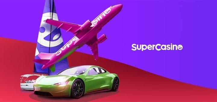 SuperCasino uue kliendi kingitused - kinkekaardid, elamuspaketid ja tasuta boonusraha