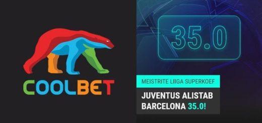Coolbet Meistrite Liiga superkoefitsient (Juventus vs FC Barcelona)