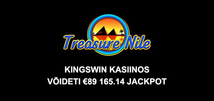 Kingswin kasiinos võideti €89 000 suurune Treasure Nile jackpot