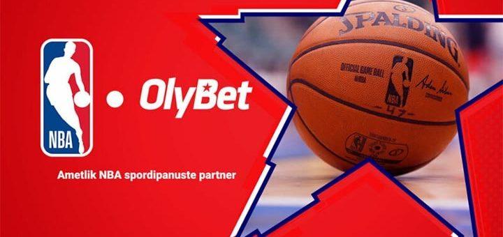 OlyBet on NBA spordipanuste ametlik partner - saa iga nädal tasuta panuseid