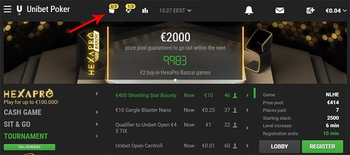 Unibet Poker Online Series tasuta spinnid
