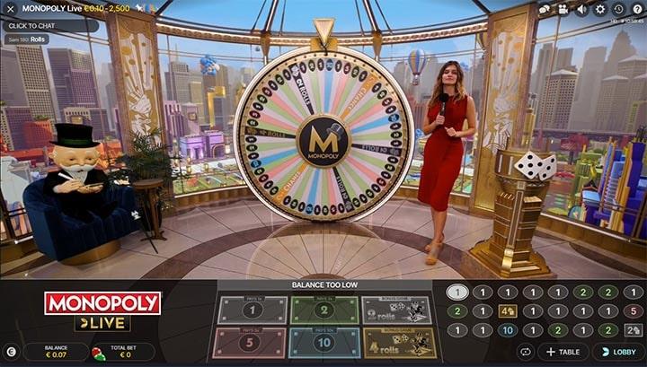 Evolution Gaming Monopoly Live