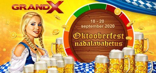 Oktoberfest 2020 pakkumised GrandX kasiinos