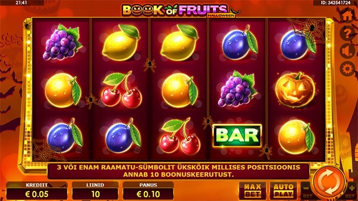 Book of Fruits Halloween Amatic slot