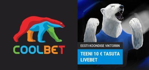 Eesti koondise jalgpalli viktoriin Coolbet'is