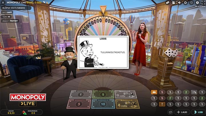 Evolution Gaming Monopoly Live Gameshow