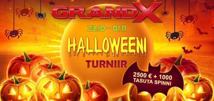 Halloween 2020 slotiturniir GrandX online kasiinos