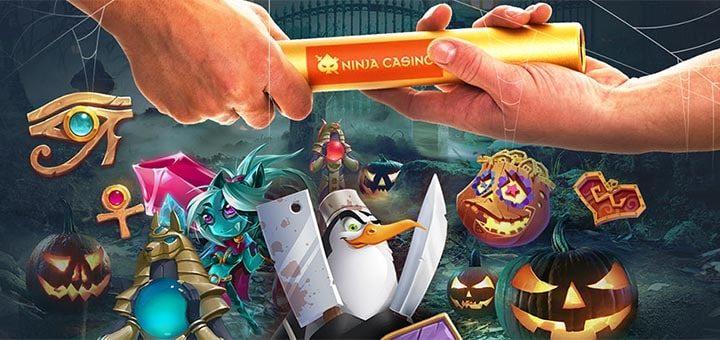 Ninja Casino teatevõistluse võidujooks Kummitavad keerutused