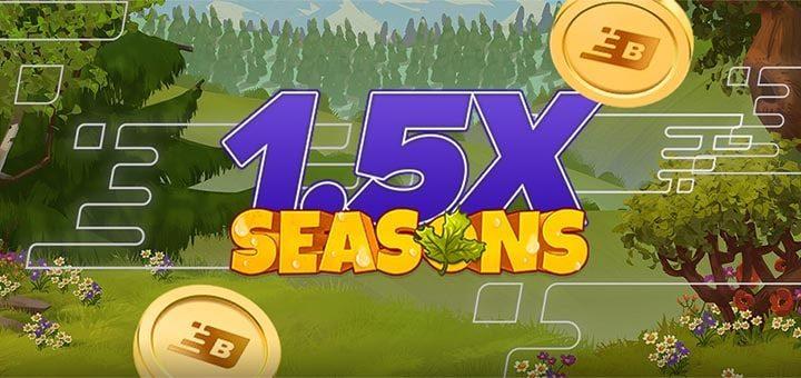 Boost Casino nädalamäng Seasons annab 1,5x rohkem Boost punkte