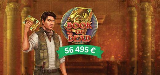 Eesti mängija suur võit Paf kasiino slotimängus Book of Dead